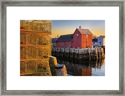 Bradley Wharf Motif #1 Framed Print