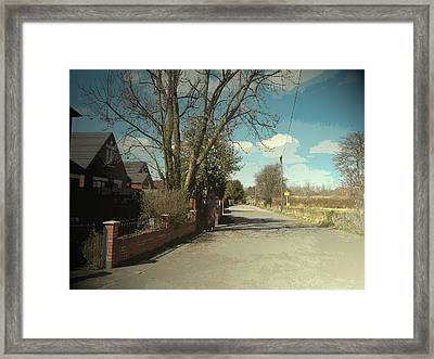 Bradshaw Street In New Sawley, A Private Road Close To Long Framed Print by Litz Collection