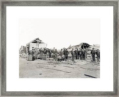 Bradshaw Tornado Ruins Framed Print