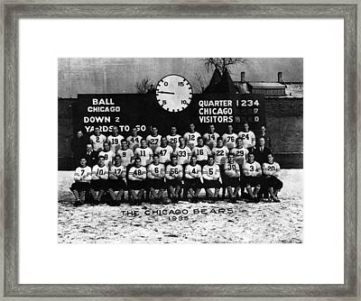 Chicago Football 1935 Framed Print by Retro Images Archive