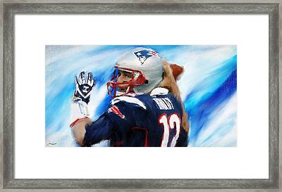 Brady Framed Print by Lourry Legarde