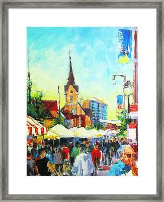 Brady Street Framed Print