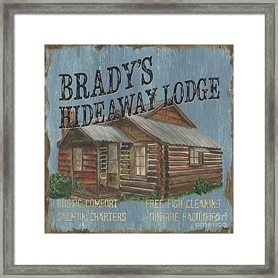 Brady's Hideaway Framed Print by Debbie DeWitt