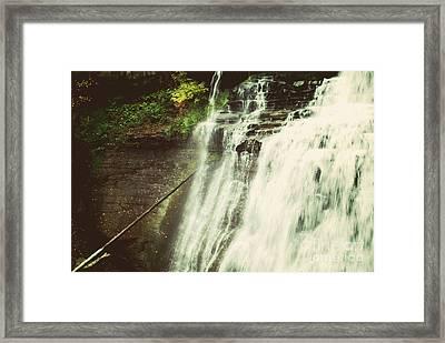 Bradywine Falls Framed Print by Rachel Barrett