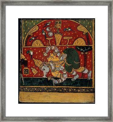 Brahmanical Pagoda Framed Print