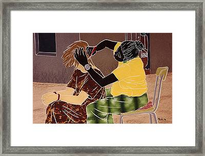 Braiding Hair Framed Print