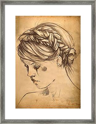 Braids Framed Print by H James Hoff