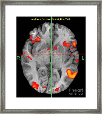 Brain Activity During Language Task, 2 Framed Print