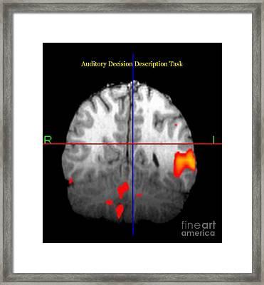 Brain Activity During Language Task, 3 Framed Print