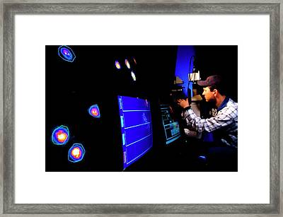 Brain Activity Fluorescence Imaging Framed Print by Keith Weller/us Department Of Agriculture