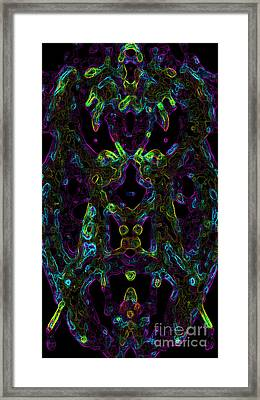 Framed Print featuring the digital art Brain Activity Variation 2 by Devin  Cogger