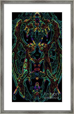 Framed Print featuring the digital art Brain Activity Variation 4 by Devin  Cogger