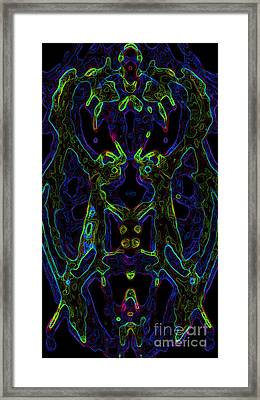 Framed Print featuring the digital art Brain Activity Variation 6 by Devin  Cogger