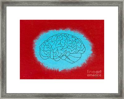 Brain Blue Framed Print