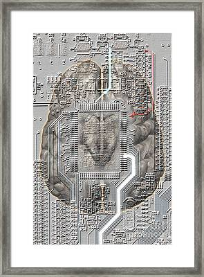 Brain Circuit Framed Print