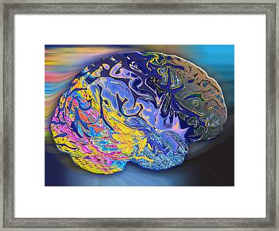 Brain Colours Framed Print by Soumya Bouchachi