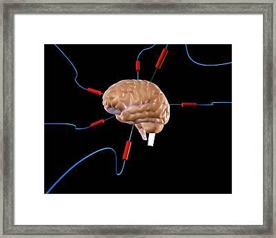 Brain Experiment Framed Print by Christian Darkin