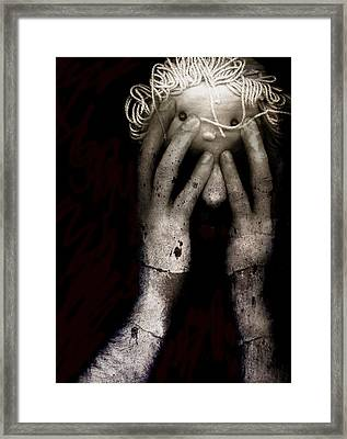 Brain Fight Framed Print