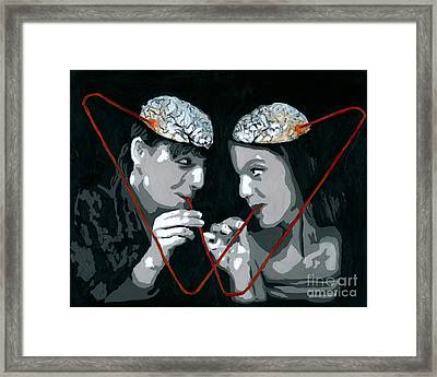 Framed Print featuring the painting Brain Food by Denise Deiloh