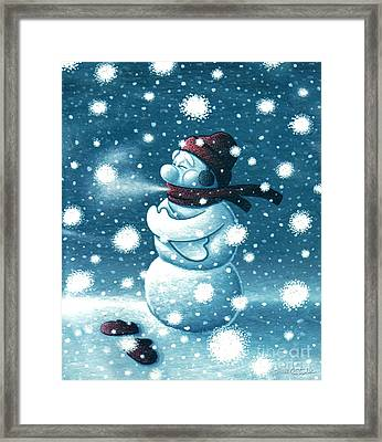 Brain Freeze Framed Print by Cristophers Dream Artistry
