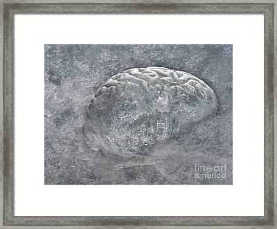 Brain Freeze Framed Print