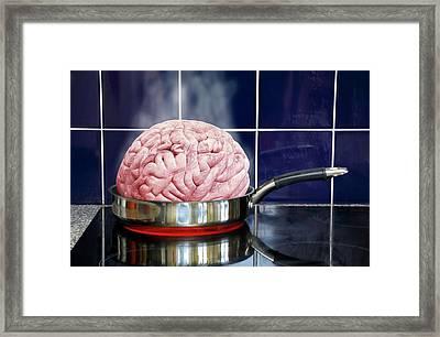 Brain In Frying Pan Framed Print