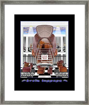 Brain Luggage Framed Print