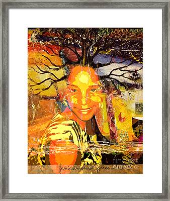 Brain Of Baobab Framed Print by Fania Simon