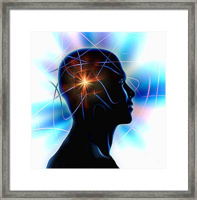 Brain Power Framed Print by Mike Agliolo