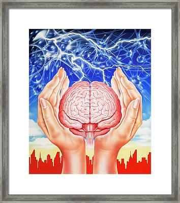 Brain Protection Framed Print