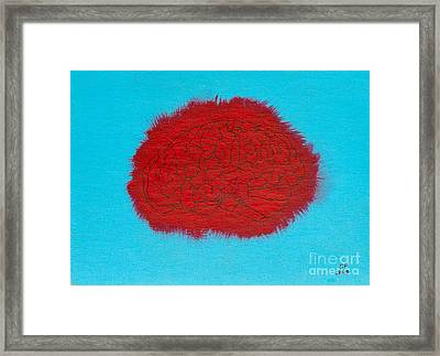 Brain Red Framed Print