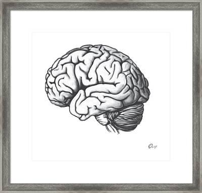 Brain Shift Framed Print by Del Gaizo