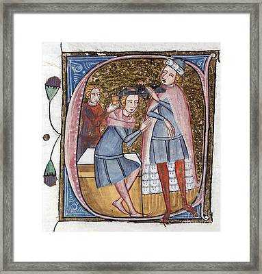 Brain Surgery, 14th Century Artwork Framed Print by British Library