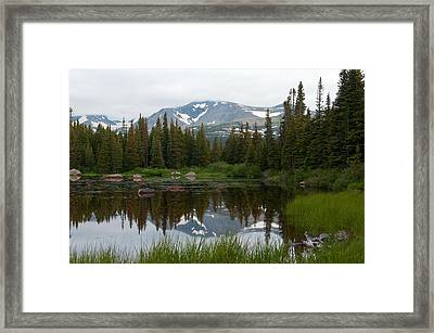 Framed Print featuring the photograph Brainerd Lakes Spring Rain by Eric Rundle