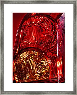 Brake Light 45 Framed Print by Sarah Loft