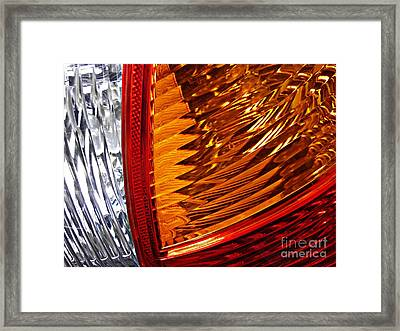 Brake Light 49 Framed Print by Sarah Loft
