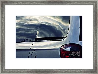Brake Light 61 Framed Print by Sarah Loft