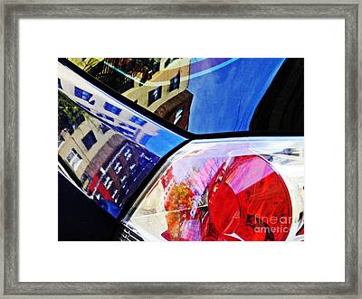 Brake Light 63 Framed Print by Sarah Loft