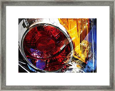 Brake Light 64 Framed Print by Sarah Loft