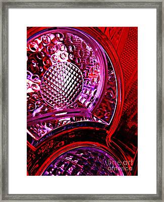 Brake Light 8 Framed Print by Sarah Loft