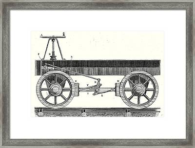 Brake Of A Wagon Framed Print