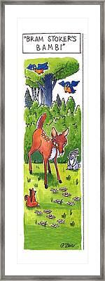Bram Stoker's Bambi Framed Print