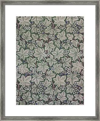 Bramble Wallpaper Design Framed Print by Kate Faulkner
