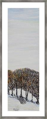 Framed Print featuring the painting Branch Broken by Marilyn  McNish