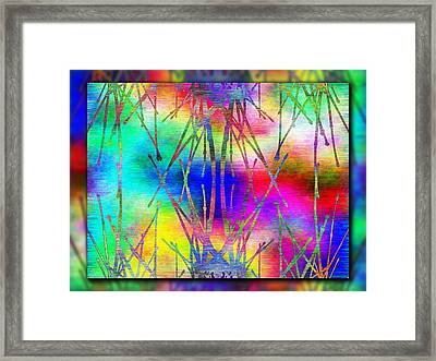 Branches In The Mist 7 Framed Print by Tim Allen