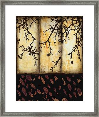 Branching Framed Print by Ann Powell