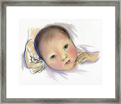 Brand New Sibling Framed Print by MM Anderson