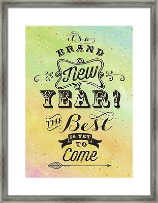 Brand New Year Framed Print by Tammy Apple