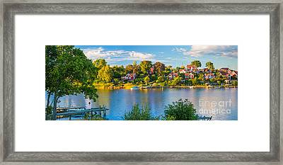 Brandaholm Panorama Framed Print by Inge Johnsson