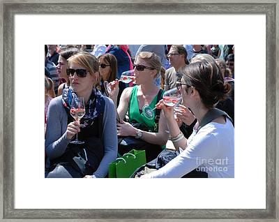 Brandenburg Wine Tasting Framed Print by Andrea Simon